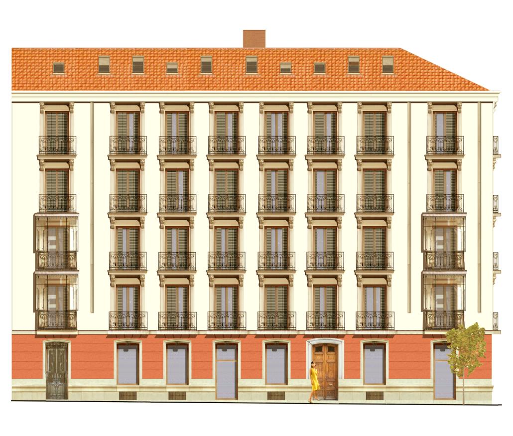 Reestructuración total del edificio de viviendas en la Calle Conde de Xiquena cv calle Almirante. Madrid
